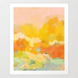 abstract spring sun Art Print