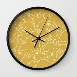Minimalist Red Fox Wall Clock