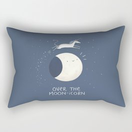 Over the Moon-icorn Rectangular Pillow