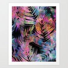 Waikiki Tropic {Black} Art Print