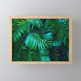 Green Palm Leaves Framed Mini Art Print