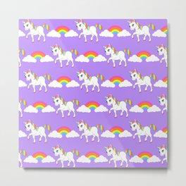 Rainbow Unicorns Metal Print