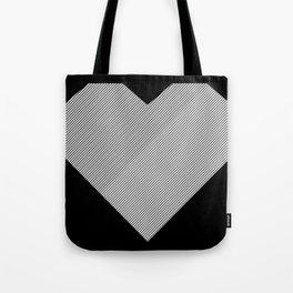 heart / black & white / Tote Bag