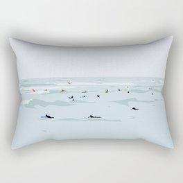 Lima, Peru, Playa Waikiki, Miraflores Travel Poster Rectangular Pillow