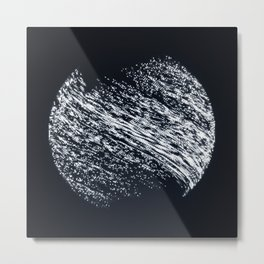 When the Moon Hasn't Finished Loading Yet Metal Print