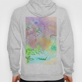 Pink Abstract Composition Hoody