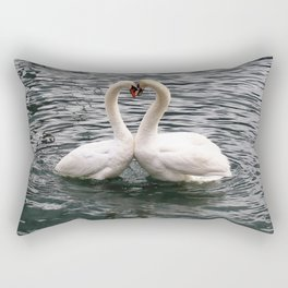 Swan Couple Rectangular Pillow