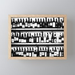 Wine Bottles in Black And White #society6 #decor Framed Mini Art Print