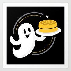 Ghost Waffles Art Print