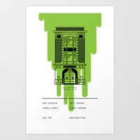 ghostbusters Art Prints featuring Ghostbusters by Travis Ladue