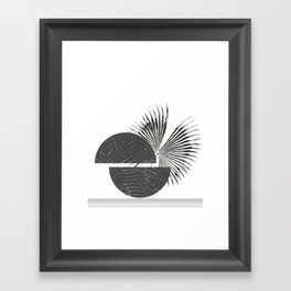 Contrast - Minimalism Mid-Century Modern Forms Framed Art Print