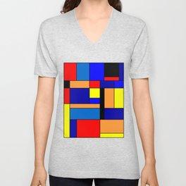 Mondrian #2 Unisex V-Neck