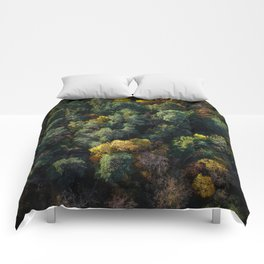 Forest Landscape - Aerial Photography Comforters