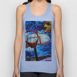 Colorful Modern Basketball Art Unisex Tank Top