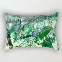 The wild shadow tropical palm tree green bright photography Rectangular Pillow
