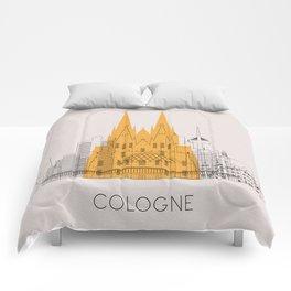 Cologne Landmarks Poster Comforters