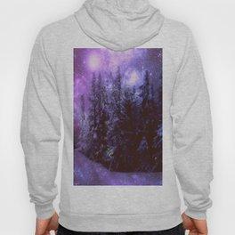 Galaxy Winter Forest Purple Hoody