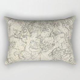 Antique Northern Celestial Hemisphere Map Rectangular Pillow