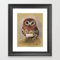 Babooshka Owl Mama Framed Art Print