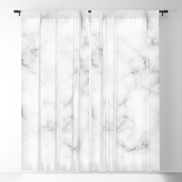 The Perfect Classic White with Grey Veins Marble Blackout Curtain