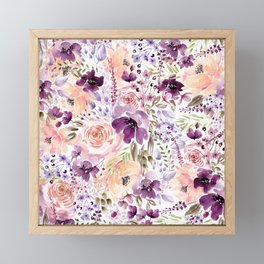 Floral Chaos Framed Mini Art Print