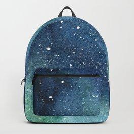 Galaxy Watercolor Aurora Borealis Painting Backpack