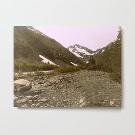 To the Mountains we go | Photography Metal Print
