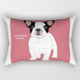 Somebody farted - Frenchie Rectangular Pillow