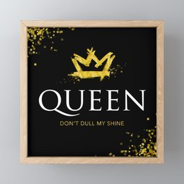 Queen - Don't Dull My Shine Framed Mini Art Print