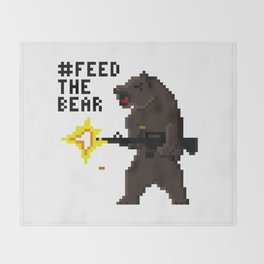Bear Arms #2 Throw Blanket