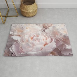 Floral Photography | Peony Pink Cluster | Flowers | Botanical | Plant Rug
