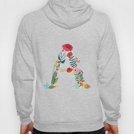 Monogram A. Letter. Initial. Typography Hoody