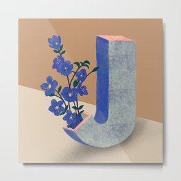Vase J Jacob's Ladder  Metal Print