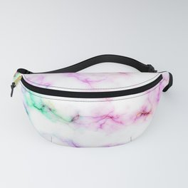 Saltwater Taffy Colored Marble Pattern Fanny Pack