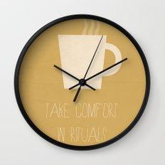 Take Comfort in Rituals. Coffee. Wall Clock