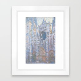 Rouen Cathedral, West Façade by Claude Monet Framed Art Print