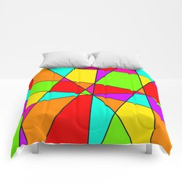 Neon Stained Glass Comforters
