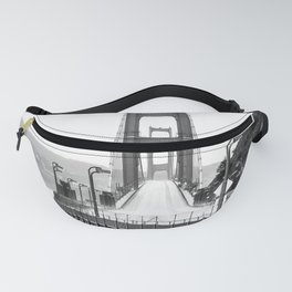 Golden Gate Bridge Black and White Fanny Pack