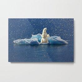 Polar Bear - Iceberg - Ice Floe - North Pole. Little sweet moments. Metal Print