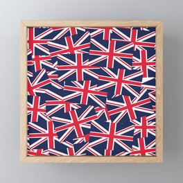 Union Jack Flags Framed Mini Art Print