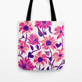 Sunflower Watercolor – Pink & Purple Palette Tote Bag