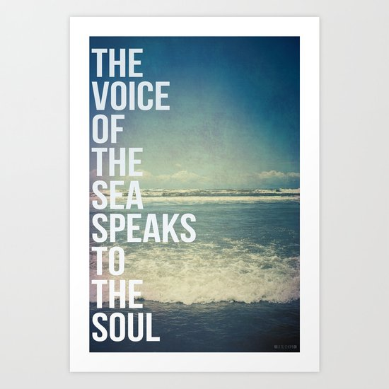 The Voice Of The Sea Art Print