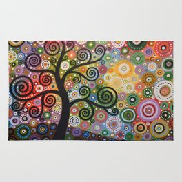 Abstract Art Landscape Original Painting ... Tree of Wishes Rug