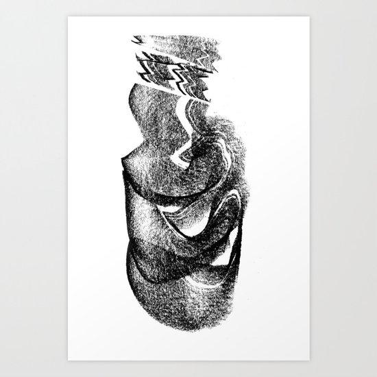 Downloading Art Print