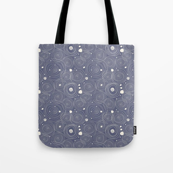 Blue Scribbles Pattern 08 Tote Bag