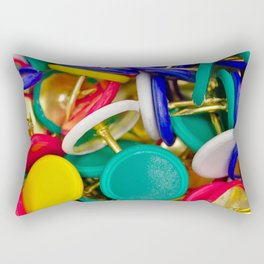 Colorful pushpins Rectangular Pillow