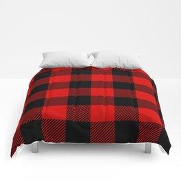 Red Lumberjack Pattern Comforters