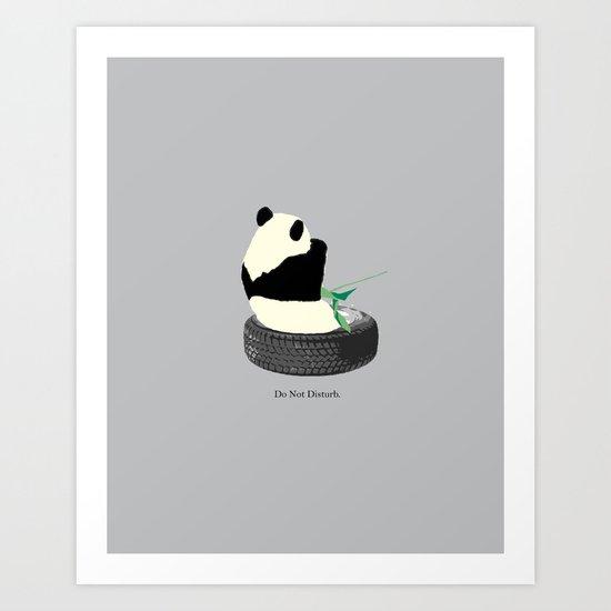 do not disturb. PANDA Art Print