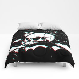 Drawing Skull Glitch Comforters