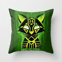 Demon Ocelot Throw Pillow